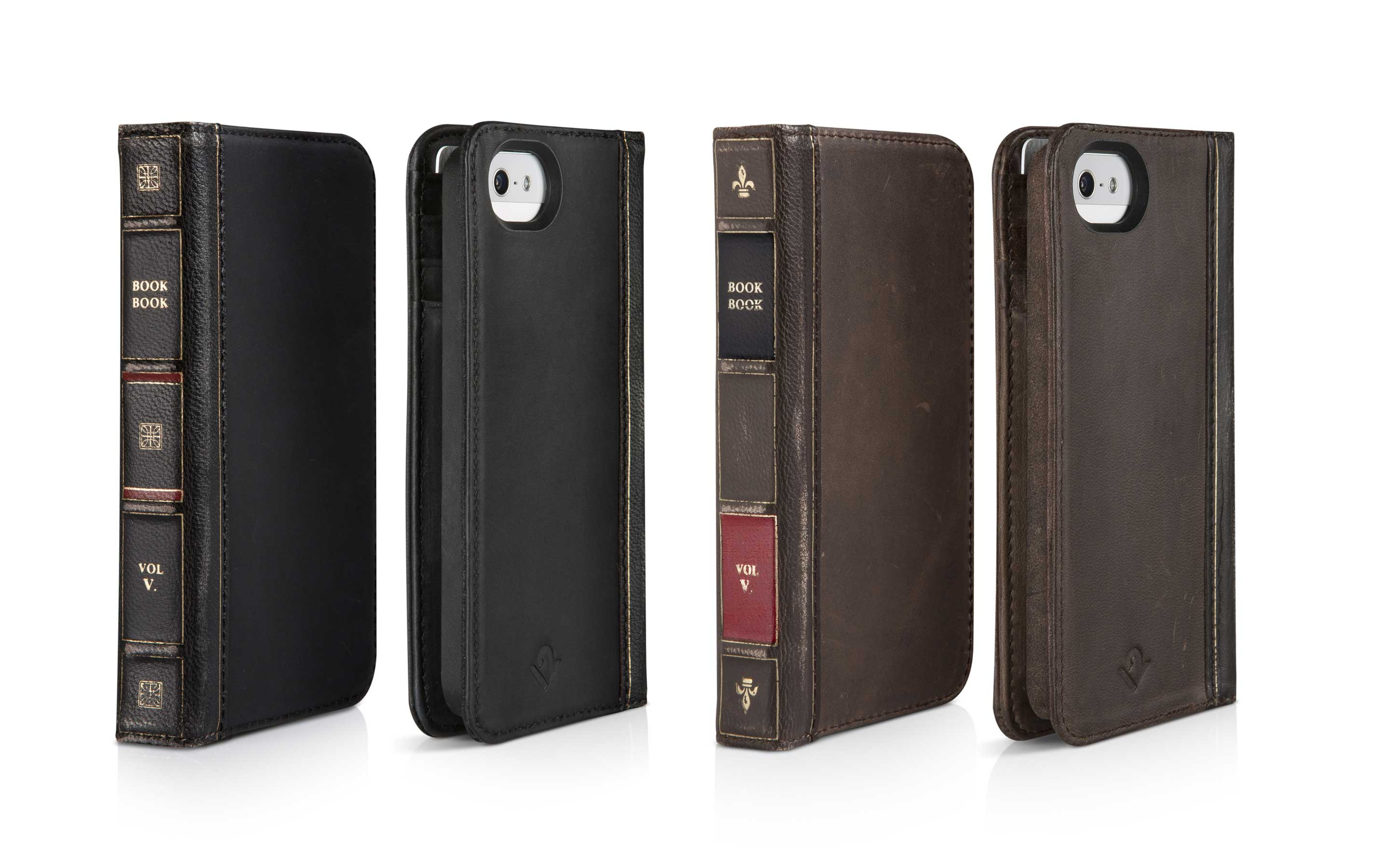 Twelve South BookBook suits iPhone 5/5s - hardcore vintage protection!