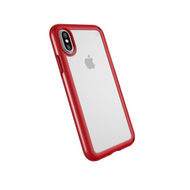 SPECK PRESIDIO SHOW IPHONE X CASES Clear/Heartthrob Red