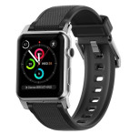 Silicone Strap for Apple Watch - Silver hardware