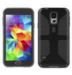 CandyShell Grip Cases for Samsung Galaxy S5-Black/Dark Grey