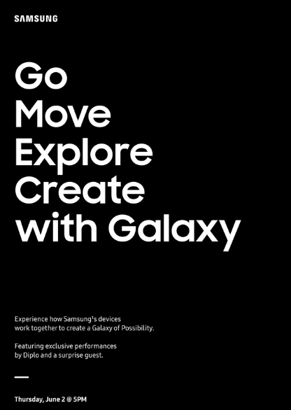 Samsung Schedules June 2nd Event in New York
