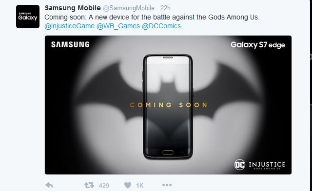 Exclusive Batman Release: Galaxy S7 edge Injustice Edition
