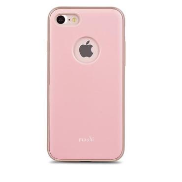 Moshi iGlaze for iPhone 7/8/SE  - Slim, Lightweight Snap-On Case Blush Pink