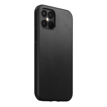Nomad Leather Case - Rugged - iPhone 12/12 Pro - Black