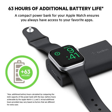 Belkin BOOSTCHARGE Power Bank for Apple Watch - 2K Black