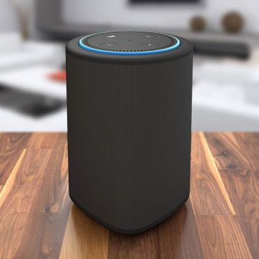 Vaux Battery and Speaker for Amazon Dot - Carbon Black