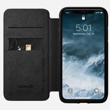 Nomad Leather Folio - Rugged - iPhone 11 Pro - Black