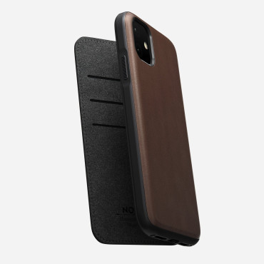 Nomad Rugged Folio - iPhone 11 Pro  | Rustic Brown Leather