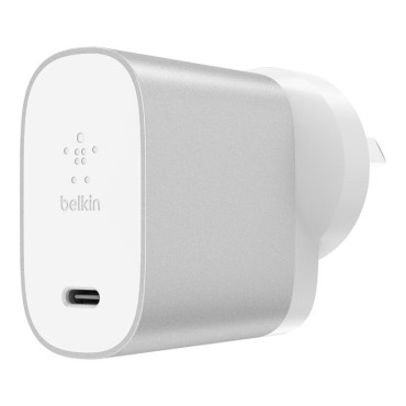 Belkin BOOSTCHARGE 27W USB-C Home Charger - Silver