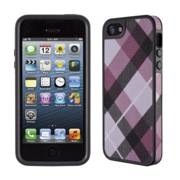 Speck FabShell MegaPlaid Mulberry/Black Cases for iPhone 5s