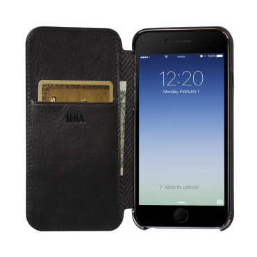 Sena Ultra Thin Wallet Book for iPhone 7 - Black