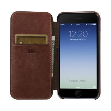 Sena  Ultra Thin Wallet Book for iPhone7 Plus - Cognac