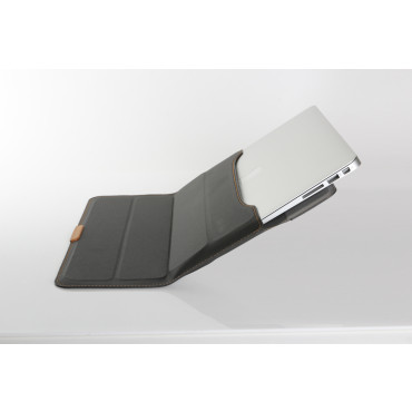 """Stand pouch for Macbook Air 13"""" - Coated Black"""