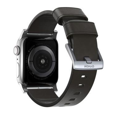 Nomad Modern Strap - Active - Apple Watch 44/42mm - Brown - Silver Hardware