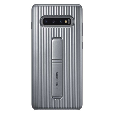 """Samsung Protective Standing Cover suits Galaxy S10+ (6.4"""") - Silver"""