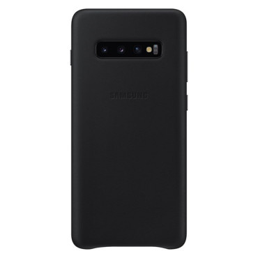 """Samsung Leather Cover suits Galaxy S10+ (6.4"""") - Black"""