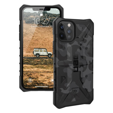 UAG Pathfinder Camo for iPhone 12/12 Pro - Midnight Camo