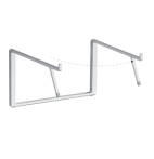 mBar Pro+ foldable stand for MacBook - Silver
