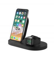 Belkin BOOSTUP Wireless Charging Dock for iPhone/Apple Watch/USB-A port - Black