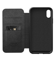 Nomad Horween Leather Rugged Folio for iPhone XS Max - Black