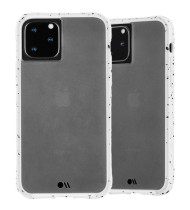 """CaseMate Tough Speckled Case For iPhone 11 Pro Max (6.5"""") - Athletic White"""