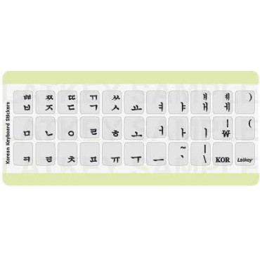 Latkeys Keyboard Stickers - Korean Black