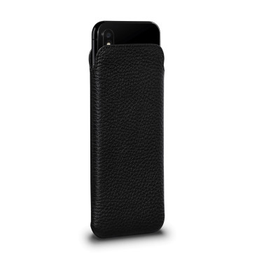 Ultraslim Classic Leather Sleeve Pouch for iPhone Xr - Black