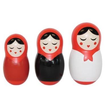 Babushka Dinner Dolls Salt Pepper and Toothpick Holder