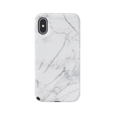 LuMee Selfie Marble for iPhone X - White
