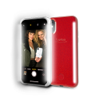 LuMee DUO Glitter for iPhone XS Max - Red