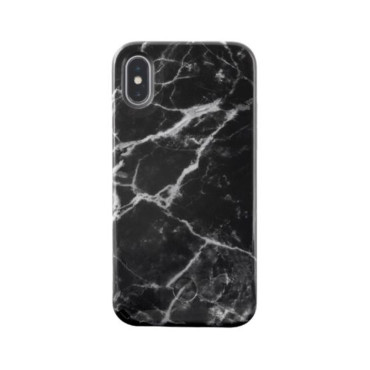 LuMee Selfie Marble for iPhone X - Black