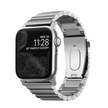 Nomad Steel Band for Apple Watch 42/44mm - Silver hardware
