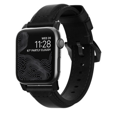 Nomad Traditional Strap for Apple Watch 42/44mm - Black Leather Black Hardware