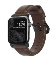 Nomad Traditional Strap for Apple Watch 42/44mm - Rustic Brown, Black Hardware
