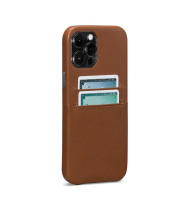 Snap On Wallet Case for iPhone 13 Pro Max - Brown
