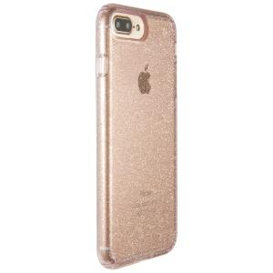 quality design 4c09e ded44 SPECK PRESIDIO CLEAR + GLITTER IPHONE 7 PLUS CASES ROSE PINK WITH GOLD  GLITTER/ROSE PINK