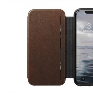 quality design 4c98f c8443 Nomad Horween Leather Rugged Tri-Folio for iPhone XS Max - Rustic Brown